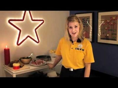 Mesa auxiliar en tu hogar navideño. Ahorrar espacio. Video consejos IKEA 22