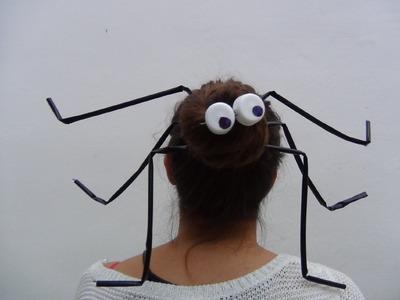 Para Halloween, un peinado con una araña enorme