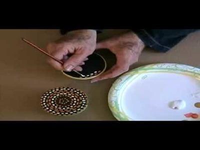 Proyecto dia de las madres caja pintada  imitacion puntillismo