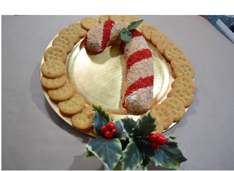 | Rollo de queso crema | Navidad | Baston de menta| Candy Cane
