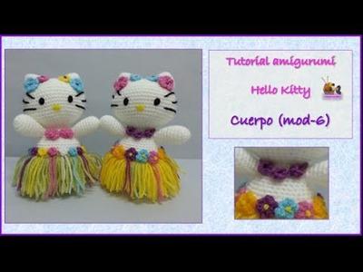 Tutorial amigurumi Hello Kitty - Cuerpo (mod-6)