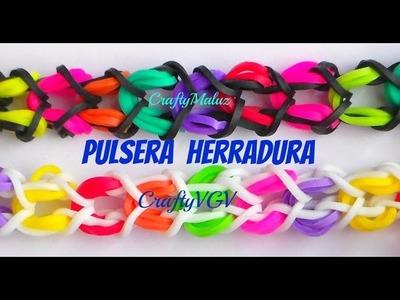Tutoriales:♥ Pulsera herradura de gomitas.ligas