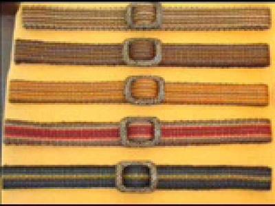 Cinturones artesanales tejidos