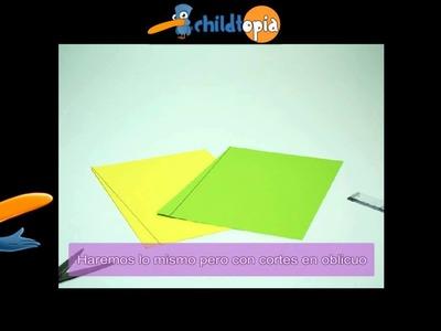 Cocodrilo de papel. Manualidades infantiles, manualidades con papel
