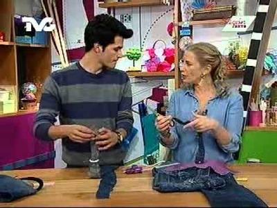 Cómo hacer una bolsa con un par de jeans reciclados (EC)
