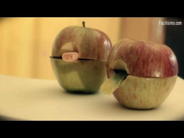* Cómo hacer una manzana con gusano y chocolate para Halloween | facilisimo.com