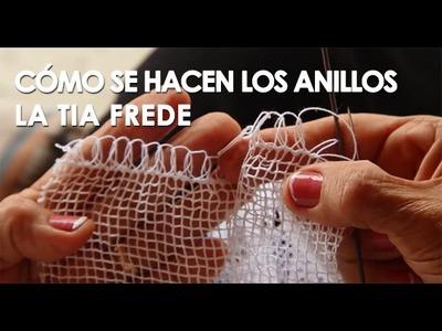 Cómo se hacen los anillos del el tejido en pajita (Tia Frede)