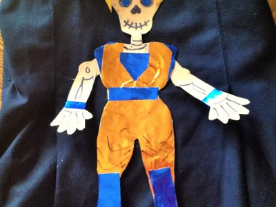 DIY decora calaverita papel Goku niño Dia de muertos Halloween  decorated paper skeleton