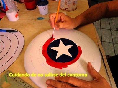Escudo del Capitán América, con un Frisbee. wmv.