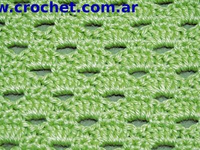 Punto Fantasía N° 53 en tejido crochet tutorial paso a paso.