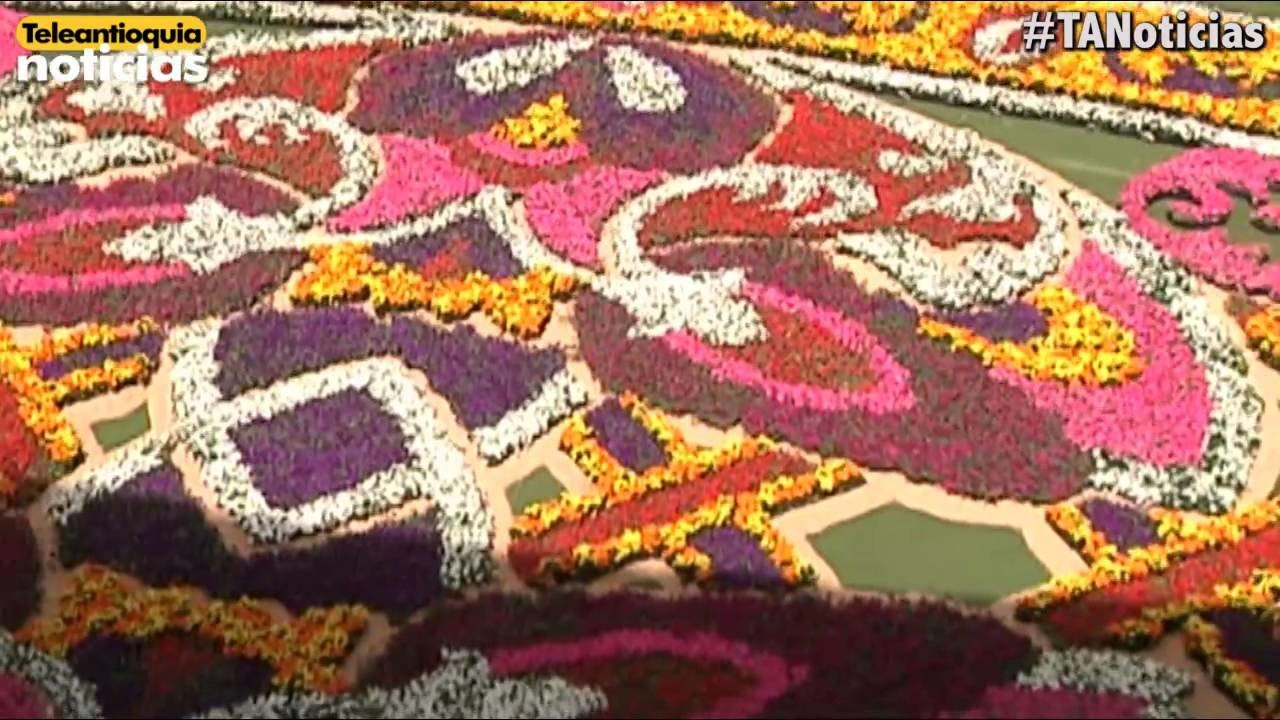 Tapete de flores, uno de los principales atractivos de la feria