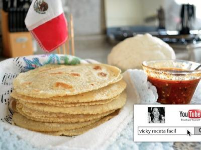 TORTILLAS DE MAIZ HECHAS A MANO | Vicky Receta Facil