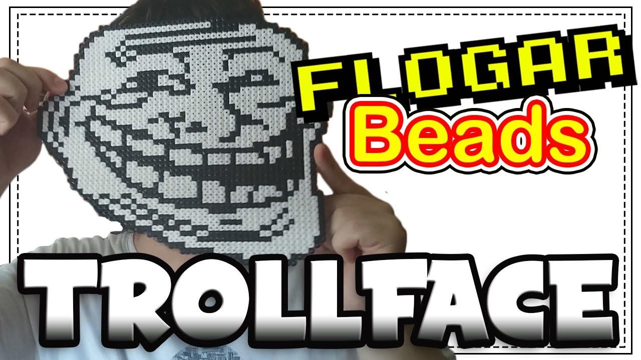 TROLLFACE - DIY- Tutorial Pearl.Hama Beads para Gamers - FloGar o.O