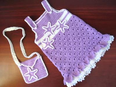 Vestidos de verano a crochet para niñas