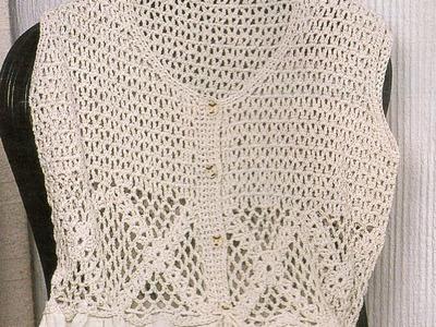 Blusa con opción de vestido a crochet