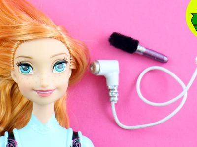 Cómo hacer una secadora , blower o blow dryer y cepillo realistas - Manualidades para tus muñecas