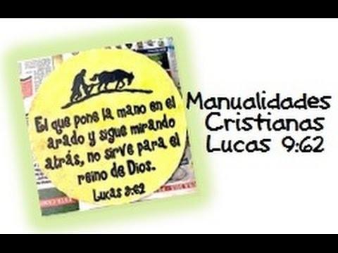 Manualidades Cristianas, Letrero de cartón, Lucas 9:62