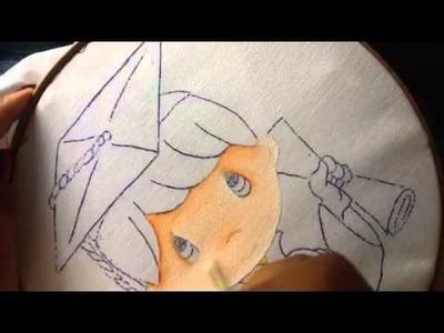 Pintura en tela niño graduacion  # 1 con cony