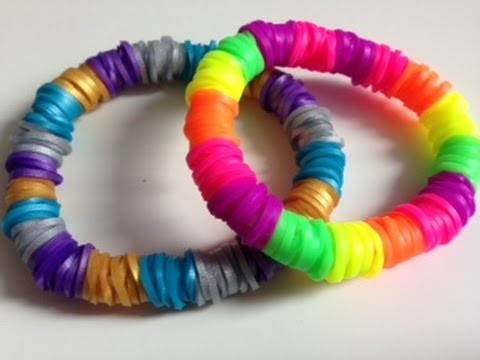 RAINBOW LOOM: Pulsera hidden fishtail (cola de pescado escondida)