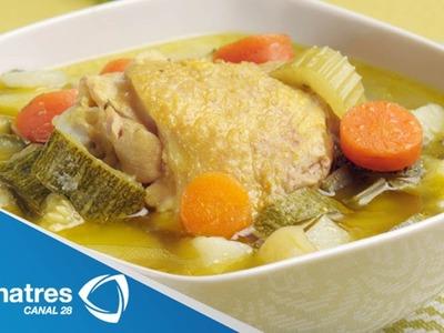 Receta para preparar caldo de pollo. Caldo de pollo. Receta de caldo