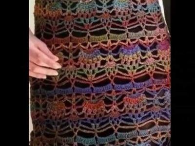 Vestido Tunica Colores Tejido a Crochet