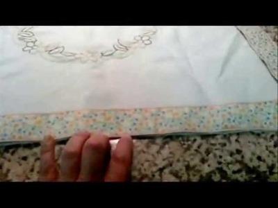 DIY.Como bordar un mantel para la vitroceramica .