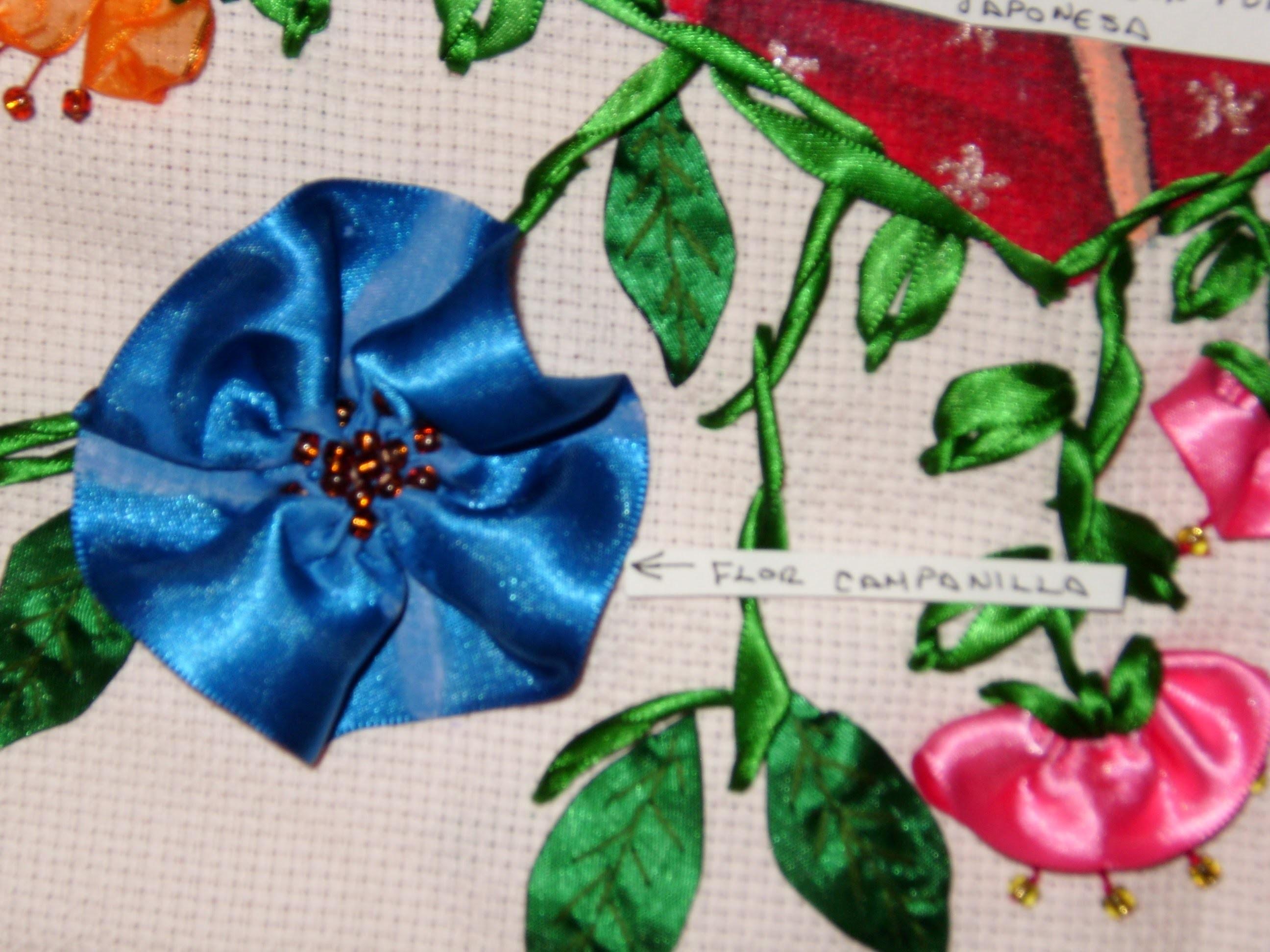 DIY Cómo hacer la flor de Campanilla en listón