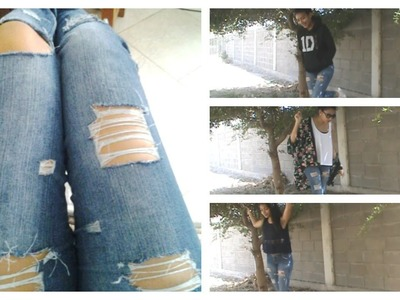 DIY:Jeans rotos + Outfits