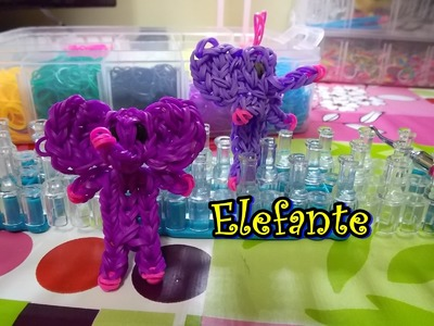 Elefante de gomitas con telar elephant with loom