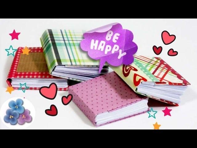 Encuadernacion Casera 48 páginas Tutorial Origami Micro Cuadernos DIY Pintura Facil