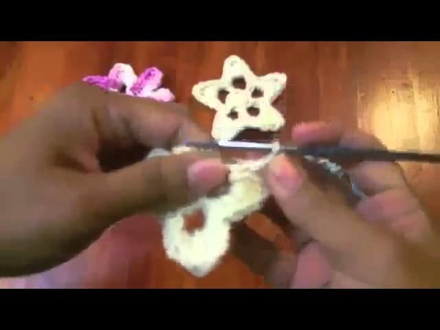 Estrella y Flor Tutorial de tejido crochet