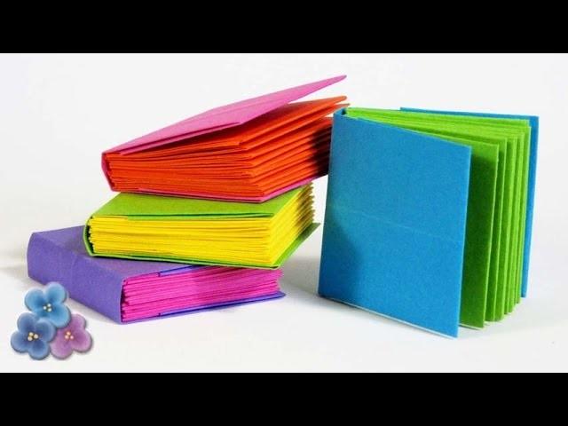 Origami: Como Hacer MICRO CUADERNOS muy FACIL Tutorial Encuadernacion Casera DIY Pintura Facil