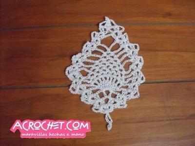 Posavaso piña tejido a crochet