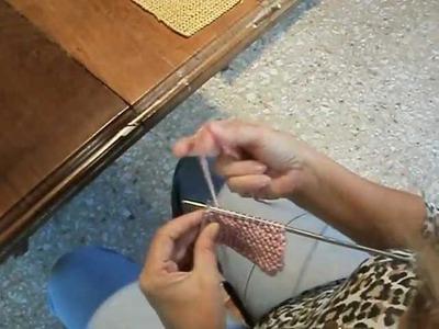 Primer bloque de manta a dos agujas