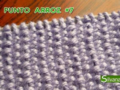 PUNTO ARROZ - Tejido con dos agujas o palitos #7