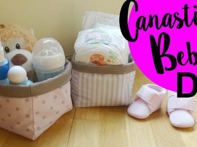 Tutorial DIY Canastilla o cesta de bebe ( Patrón incluido )
