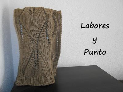 Aprende a tejer esta bufanda en dos agujas - Parte 1 de 2