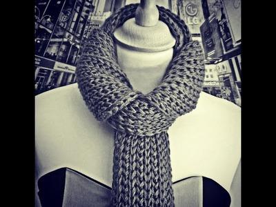 Cierre de bufanda - Punto capricornio. End of a scarf - Capricorn stitch