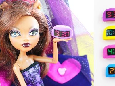 Cómo hacer un reloj despertador  dijital para tu  muñeca - Manualidades para muñecas