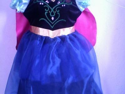 DIY. Disfraz de princesa Anna para niña + patrones.