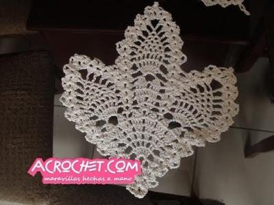 Guardasitio de 3 piñas tejido al crochet parte 2