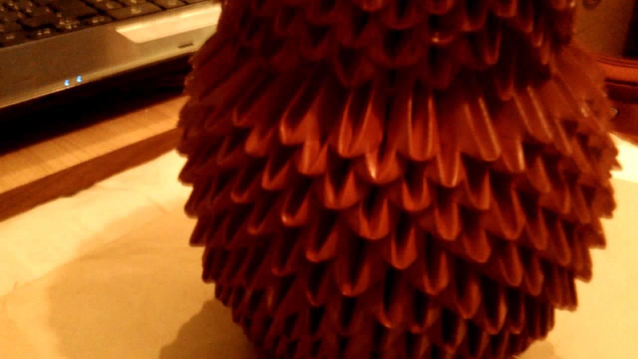 Jarron en proceso con origami 3D 2da parte