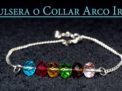 Pulsera o Collar Arco Iris o Rainbow, Ultima moda