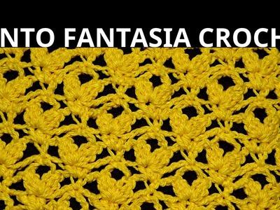 Punto Fantasía N° 54 en tejido crochet tutorial paso a paso.