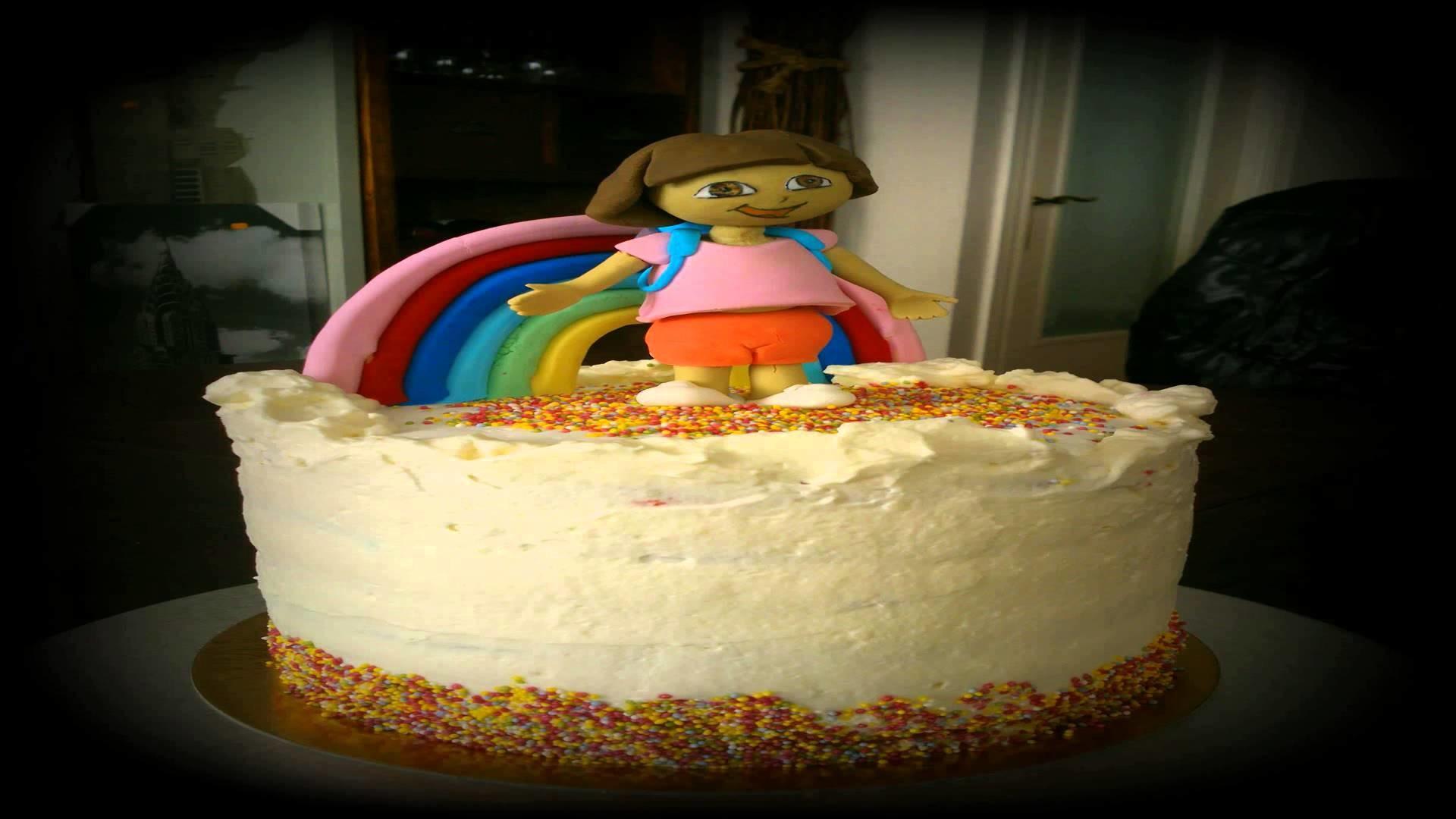 Rainbow cake Dora la exploradora
