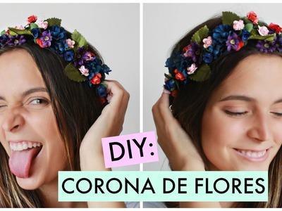 Como hacer una corona de flores facil | Fashaddicti | DIY