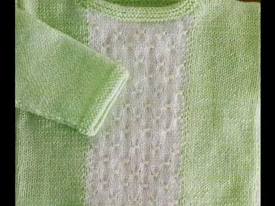 Como Tejer suéter para bebé 2 agujas