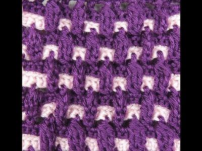 Crochet : Doble Punto Alto en Relieve