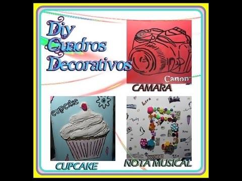 DIY - CUADRO CAMARA CANNON - CUPCAKE - NOTA MUSICA