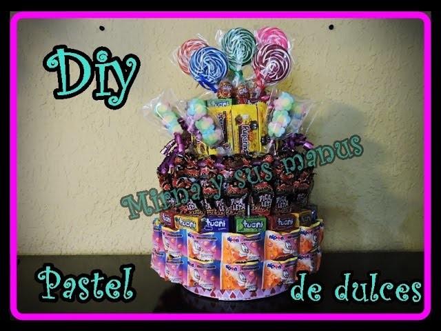 Diy  Pastel de dulces. . . Diy  sweet cake